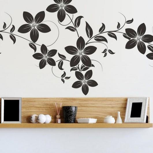 Трафареты для стен цветов
