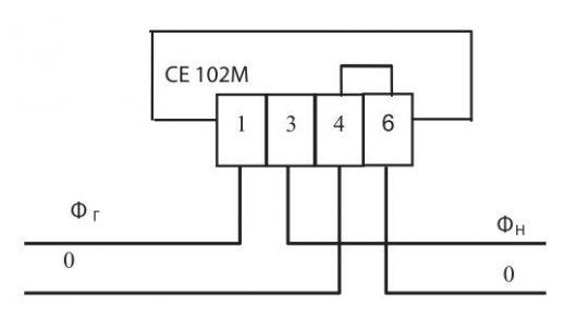 схема подключения счетчик однофазный многотарифный Энергомера СЕ 102