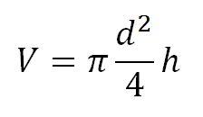 формула объема цилиндра