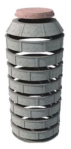 Кессон из полимерно-песчаных колец